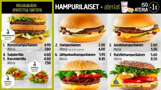 Hesburger hampurilaisateriat
