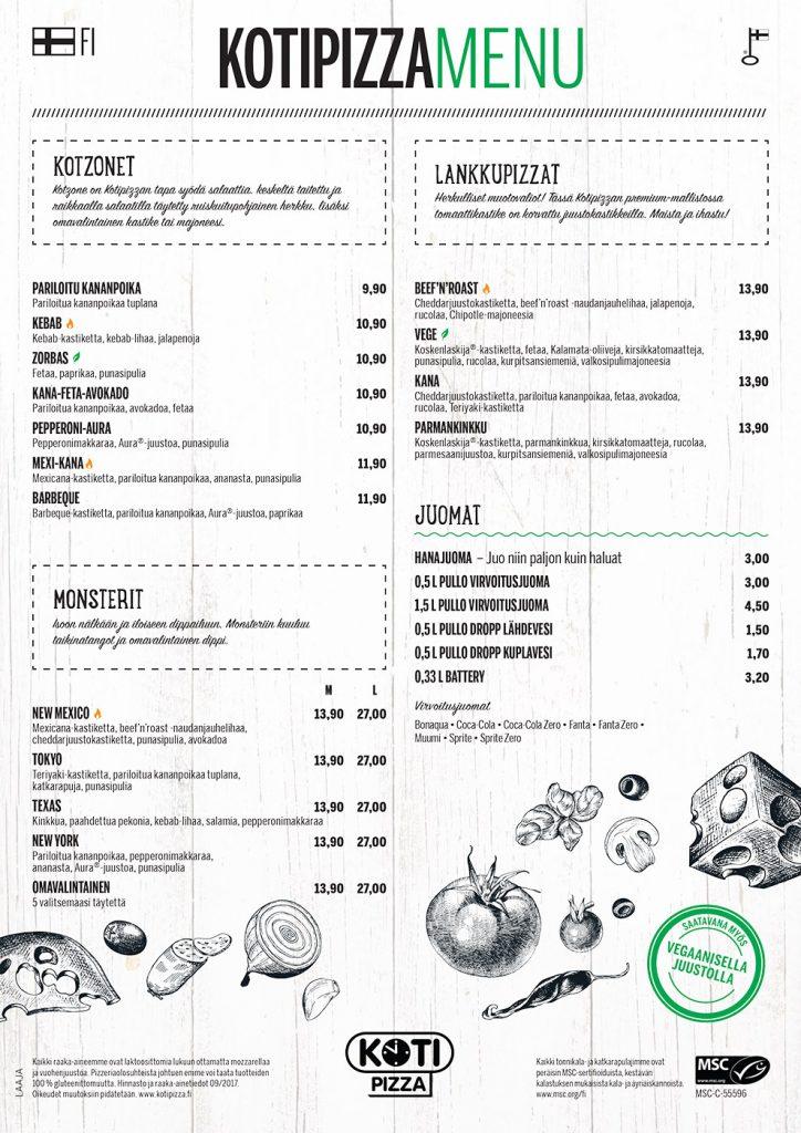 Kotipizza menu sivu 2